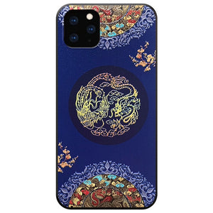 Embossed 3D Antiquity Style Shockproof Anti scratch Case for iPhone 11 Series