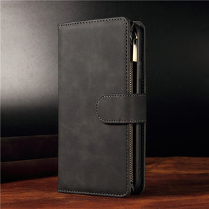 Luxury Zipper Leather Flip Case For Oneplus Smartphone