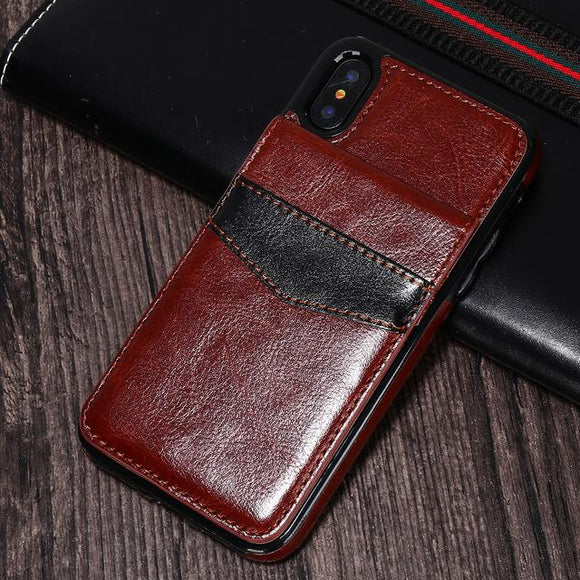 Card Holder Mobile Fundas Phone Case For iPhone Xs Max XR