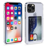 Heavy Protection Case Clear Card Slot Soft Cover For iPhone 11 Pro X XR XS Max Huawei Mate 30 Pro P20 P30 Lite