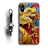 Chinese Style Dragon Coque Case For Apple iPhone X XR XS MAX 8 Plus
