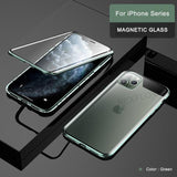 Magnetic 360 Shockproof Tempered Glass Case For Apple iPhone 11 Pro Max