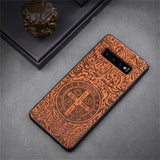 New Slim Wood Back Cover TPU Bumper Case For Samsung S10 S10 Plus