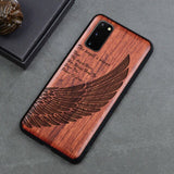 Silicon Carved Wooden Case For Samsung Galaxy s20 Series