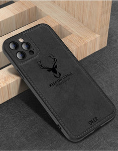 Magnetic Cloth Deer Case For Apple iPhone 11 12 Pro MAX