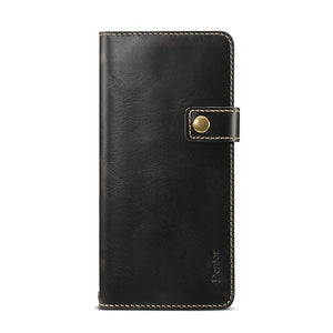 Retro Luxury Genuine Leather Wallet Case for Samsung Galaxy S20 Series