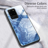 New Fashion Tempered Glass Protective Marble Case For Samsung Galaxy S20 Ultra S10