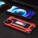 Armor Magnetic Metal Stand Holder Phone Case for iPhone 12 11 Series