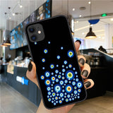 Fashion Evil Eyes High Quality Black Soft Silicone Phone Cases For iPhone 11 Series