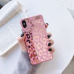 Fashion Luxury Leopard Print Laser Phone Case For iphone 11 Series