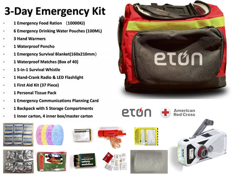 3-Day Emergency Kit with American Red Cross FRX2