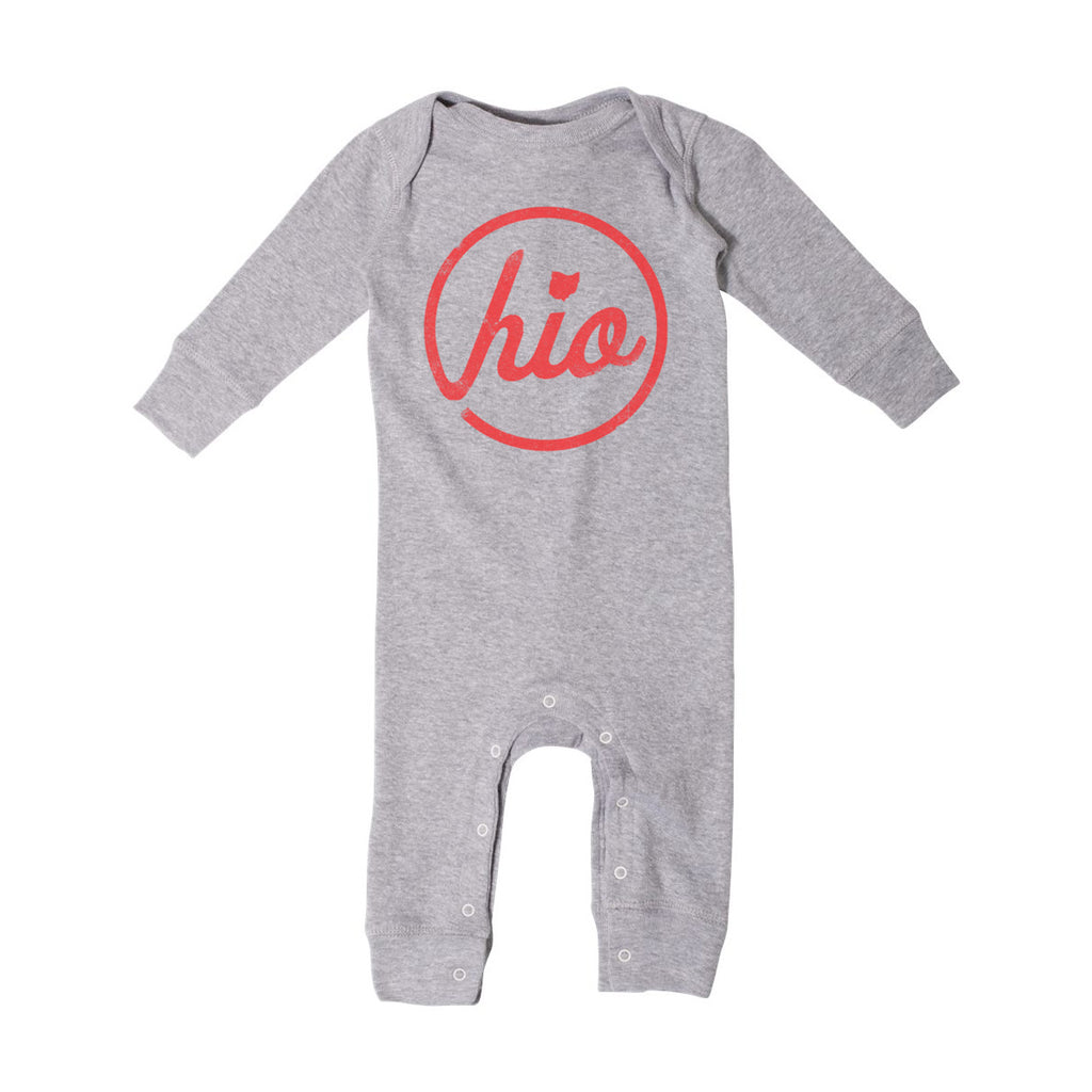 Circle Ohio - Baby Bodysuit / H. Grey