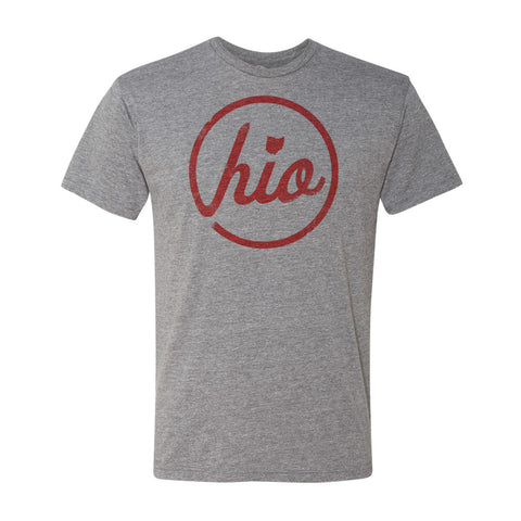 Circle Ohio - T-Shirt / Heather Grey