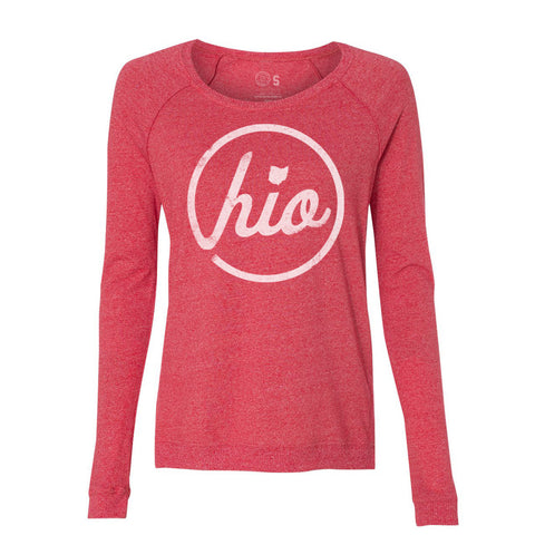 WOMEN'S CIRCLE OHIO PULLOVER / RED
