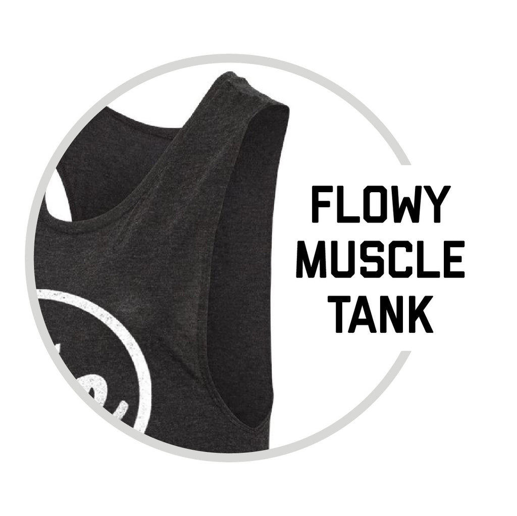 WOMEN'S CIRCLE OHIO MUSCLE TANK / BLACK