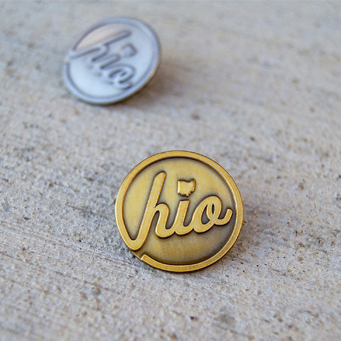 Circle Ohio / Vintage Metal Lapel Pin