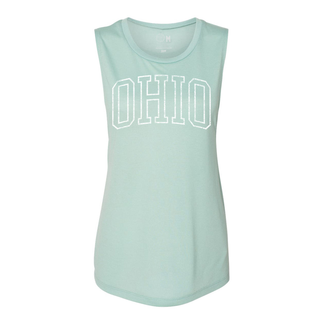 WOMEN'S VINTAGE BLOCK OHIO MUSCLE TANK / MINT
