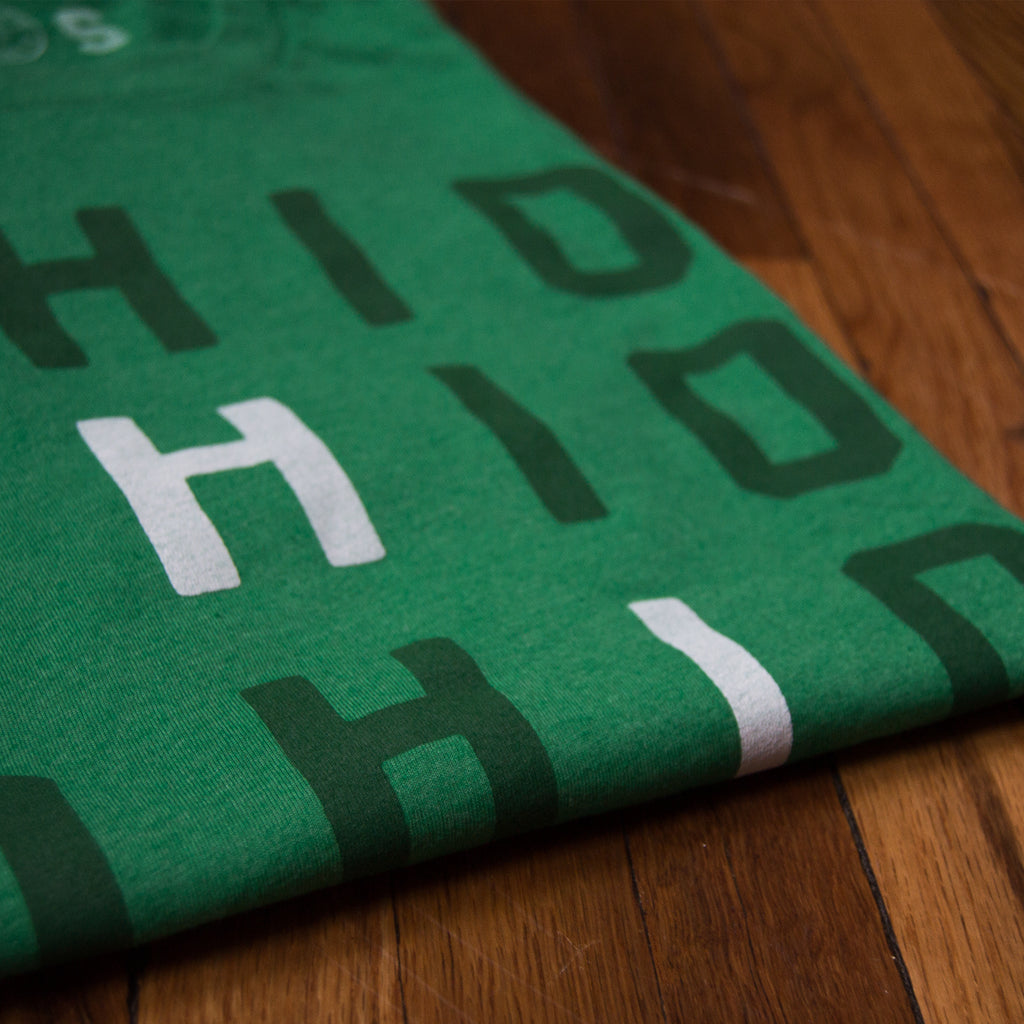 Stacked Ohio - T-Shirt / Green