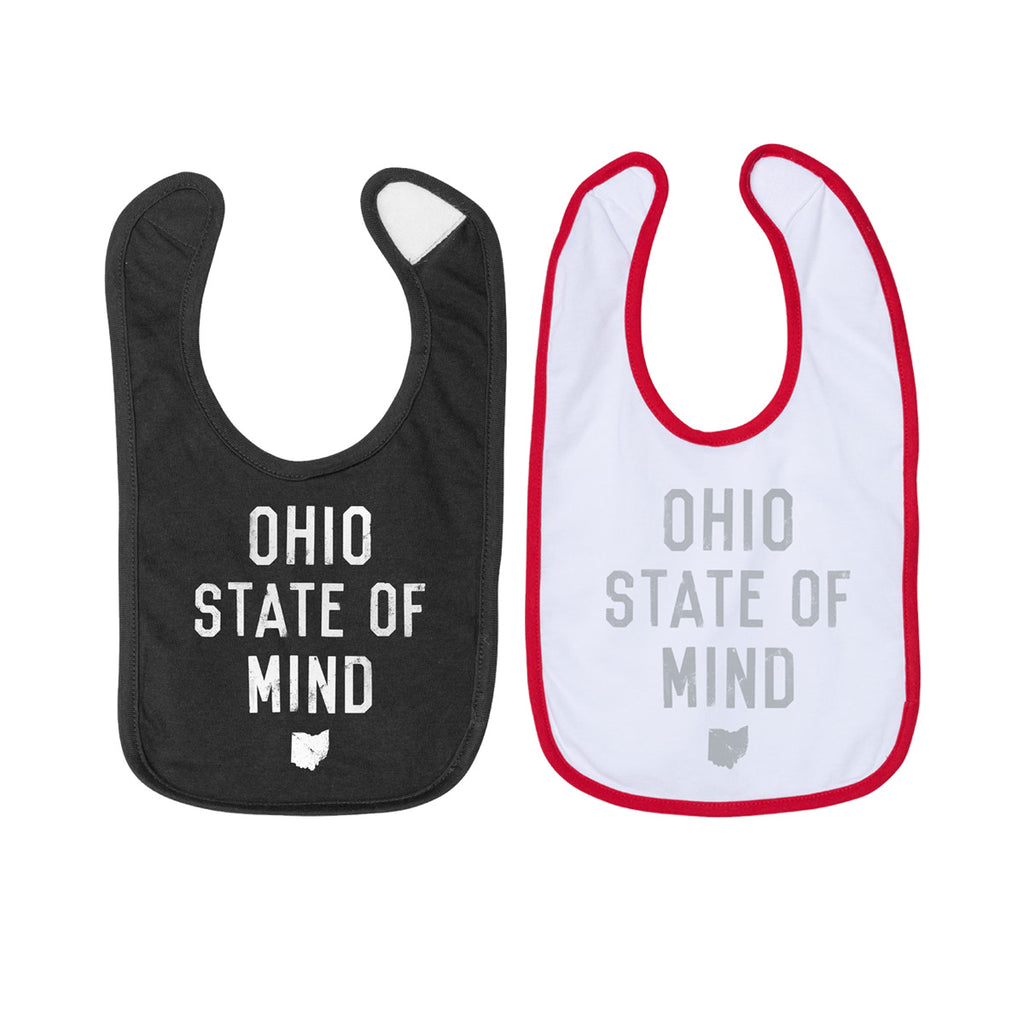 OHIO STATE OF MIND - PREMIUM INFANT BIB / 2 PACK