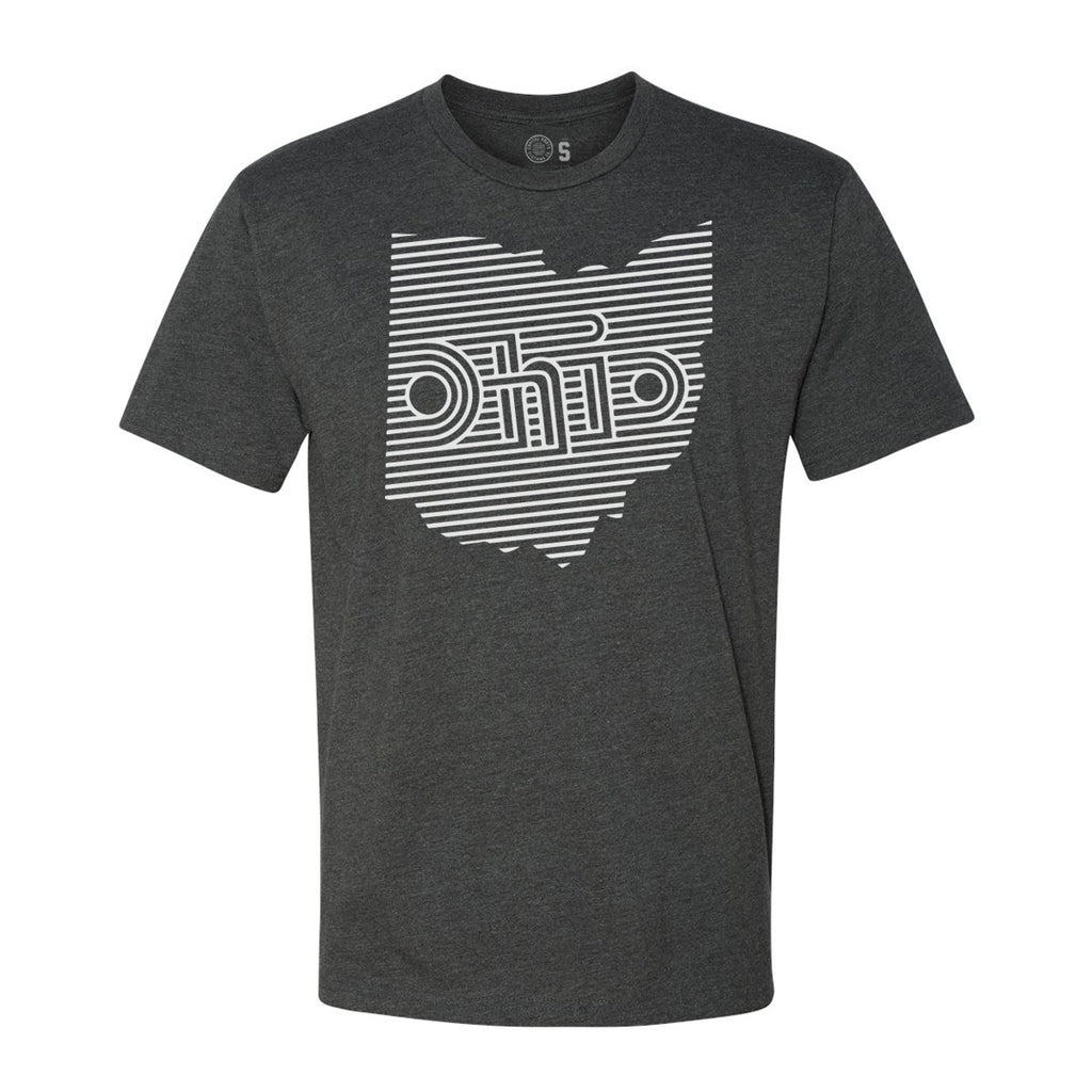 OHIO RETRO LINES - T-Shirt / CHARCOAL