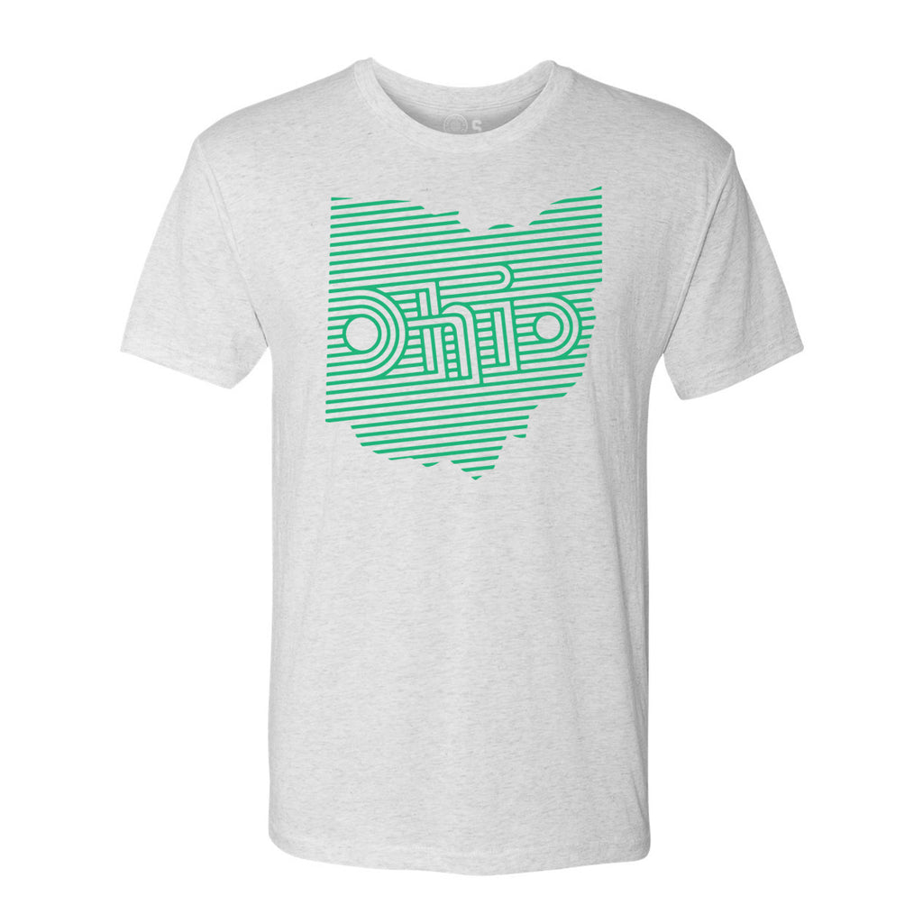 OHIO RETRO LINES - T-Shirt / H. WHITE