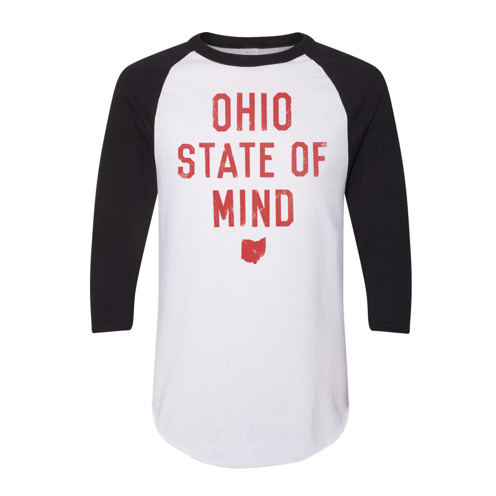 OHIO STATE OF MIND BLACK - RAGLAN TEE