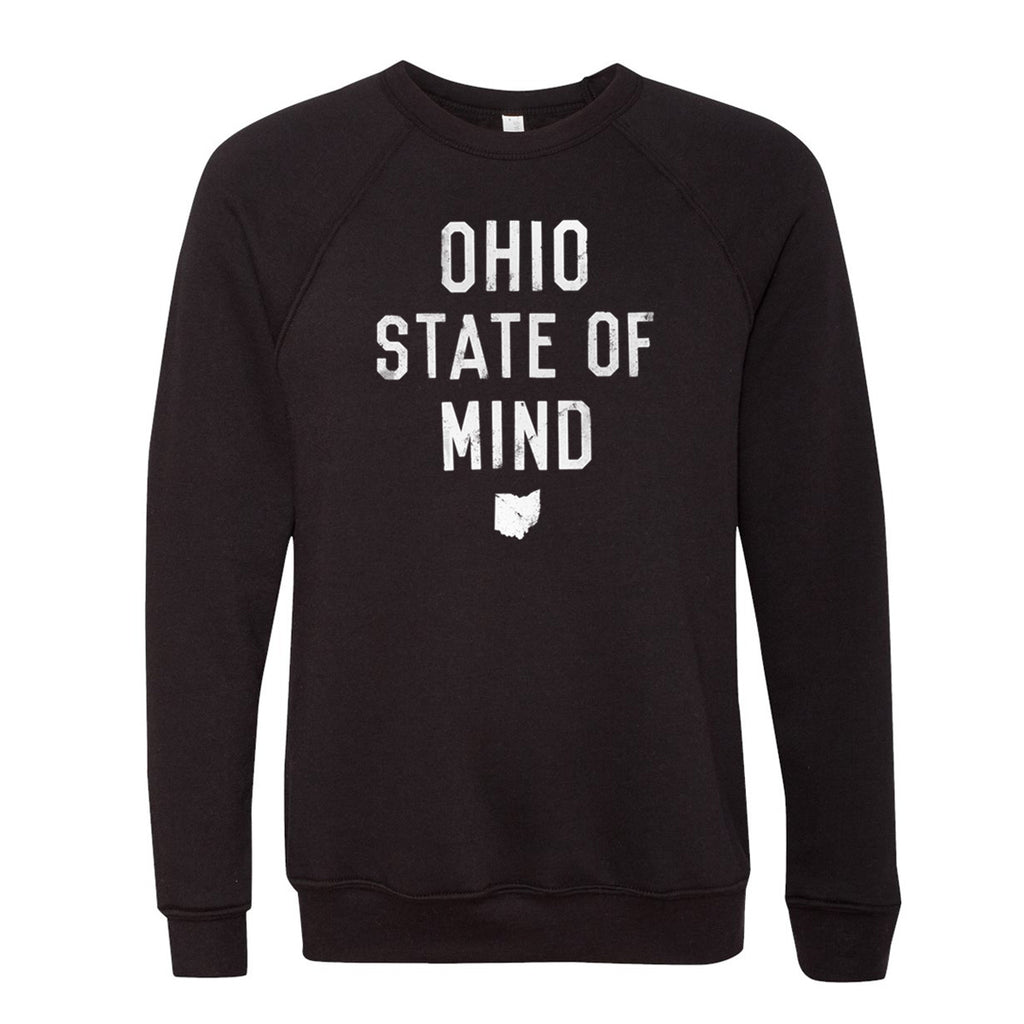 OHIO STATE OF MIND CREWNECK SWEATSHIRT - BLACK