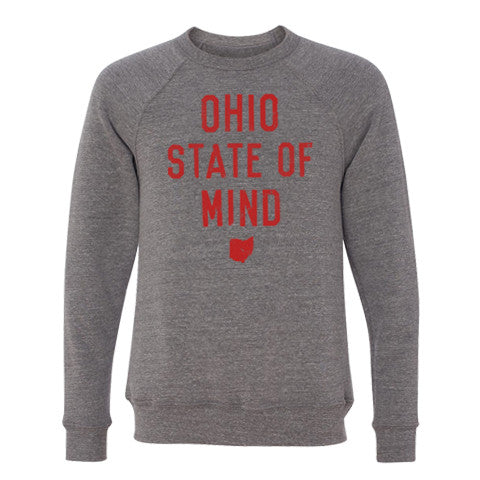OHIO STATE OF MIND CREWNECK SWEATSHIRT - H. GREY