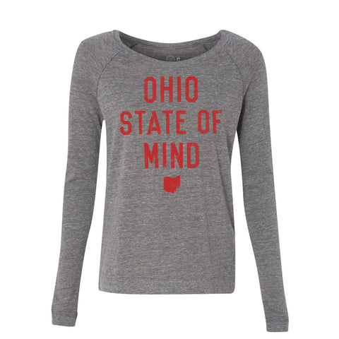 WOMEN'S OHIO STATE OF MIND PULLOVER / GREY