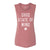WOMEN'S OHIO STATE OF MIND MUSCLE TANK / MAUVE
