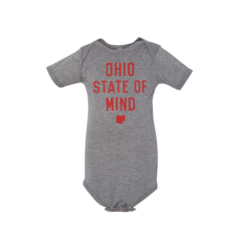 OHIO STATE OF MIND  /  BABY SHORT SLEEVE ONESIE