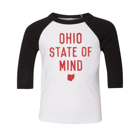 OHIO STATE OF MIND  / TODDLER BASEBALL TEE