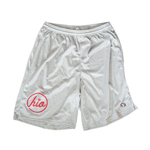 Circle Ohio - Champion® Mesh Shorts / Silver Grey