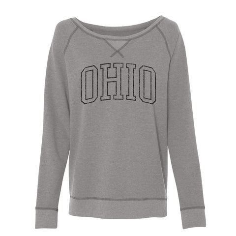 VINTAGE OHIO FRENCH TERRY PULLOVER SWEATSHIRT / GREY