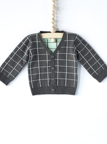 Grid Knit Cardigan