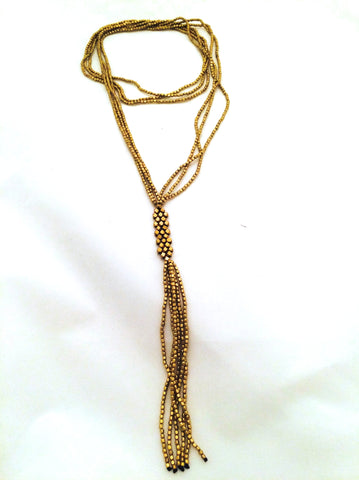 Brass Small Nugget Necklace