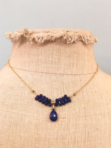 Lapis Teardrops Necklace