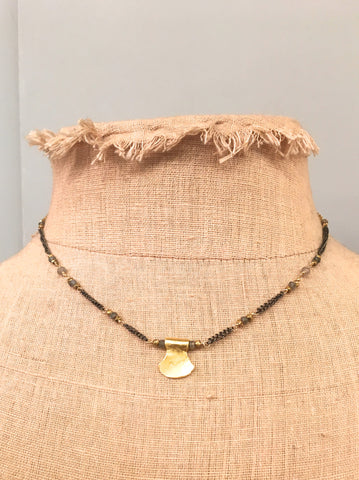 Single Gold Charm Necklace