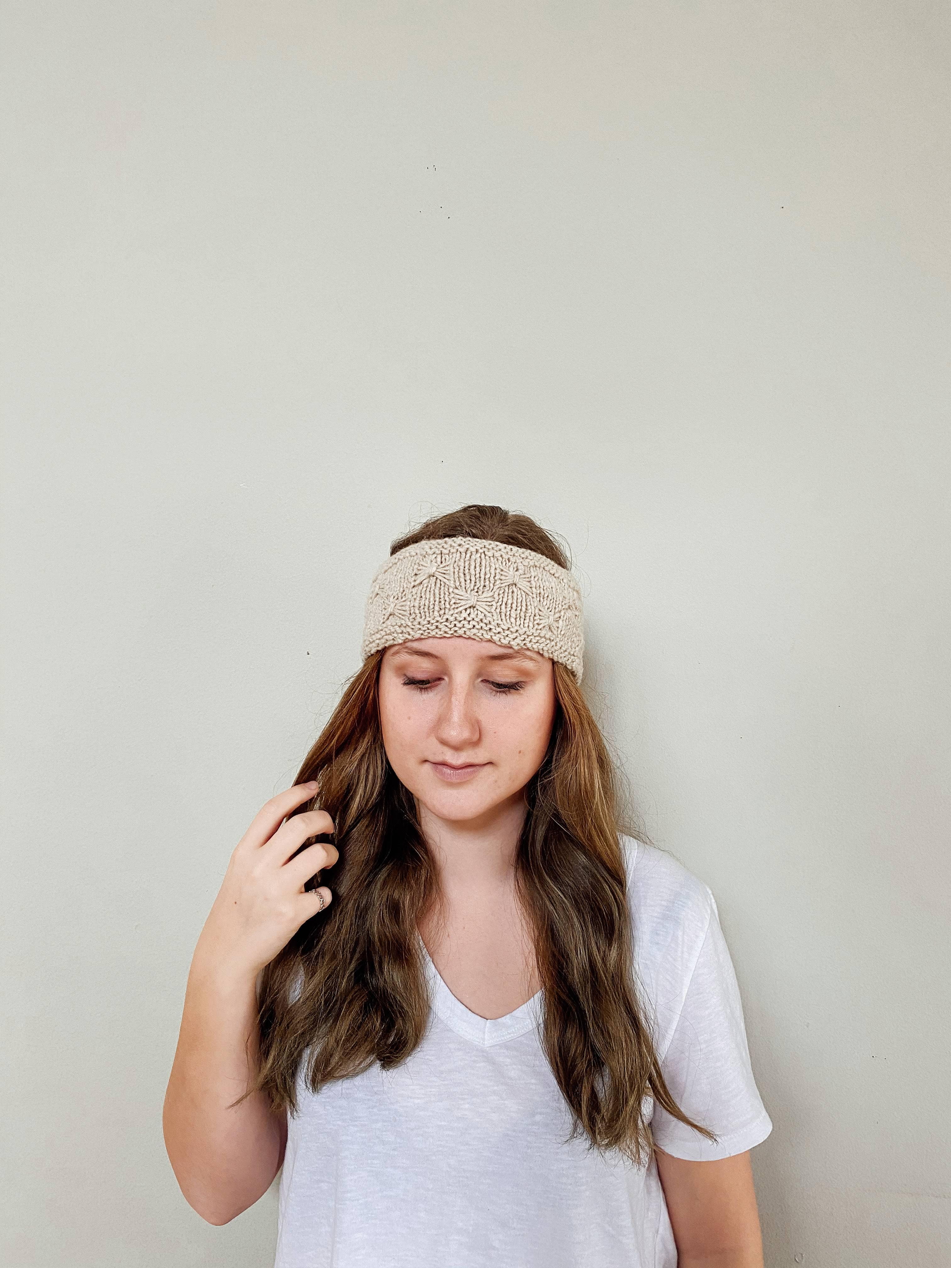 Handspun Butterfly Headband - Handspun Yak Wool Hat -  The Yak Wool Company