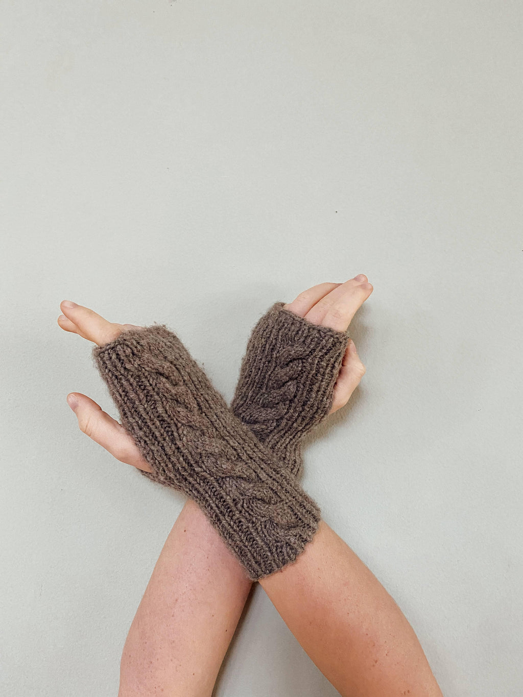 Twist Wrist Warmers - Handspun Yak Wool Wrist Warmers -  The Yak Wool Company