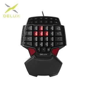 Delux T9 Wired Single-handed Gaming Keyboard