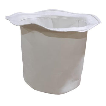1780201 White Polyester Filter Bag with Rope for Dust Collection