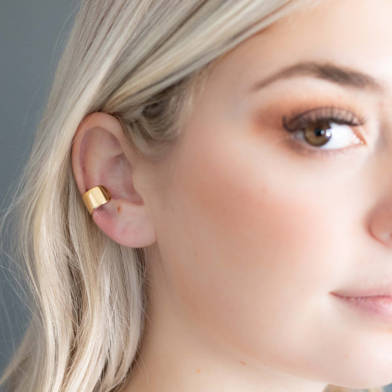 Thick Gold Ear Cuff