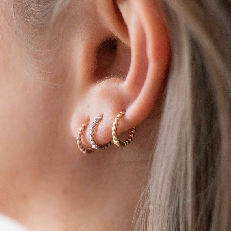Tiny Gold Huggie Hoops