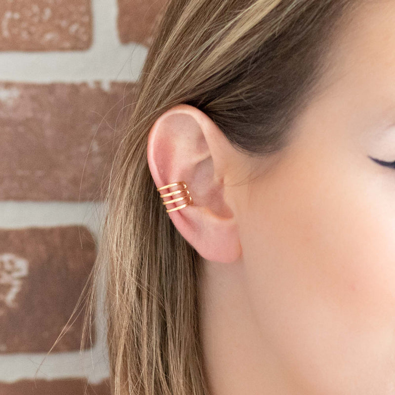 Gold 4 Band Ear Cuff