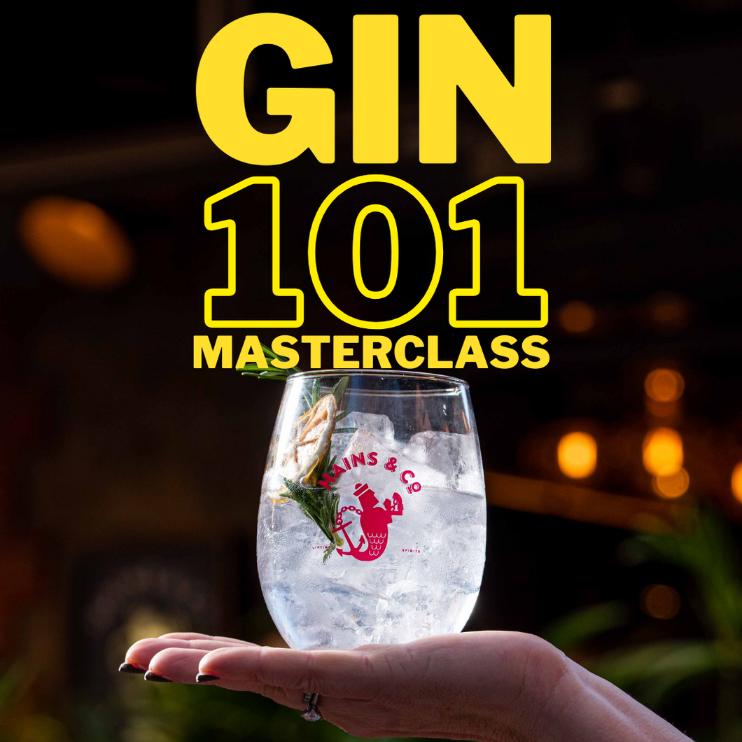 THE GIN 101 MASTERCLASS  - Sat 30 January, 2pm