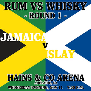 Rum vs Whisky ROUND 1 - Jamaica vs Islay