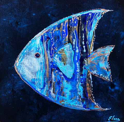 Angel Fish - Acrylic On Wood