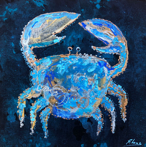 Crab - Acrylic On Wood