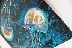 Jelly Fish Couple - Acrylic On Wood